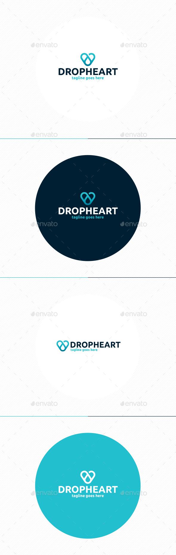 Drop Heart Logo - Symbols Logo Templates