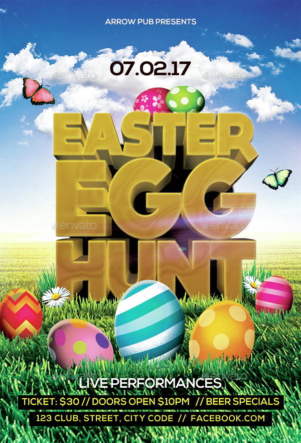 easter egg hunt flyer by arrow3000