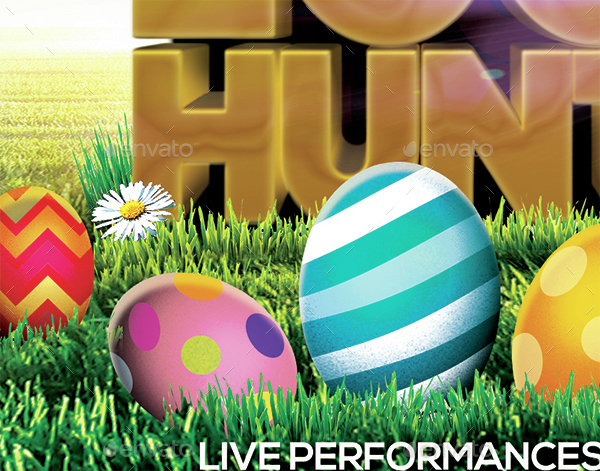 Easter Egg Hunt Flyer by Arrow3000 | GraphicRiver