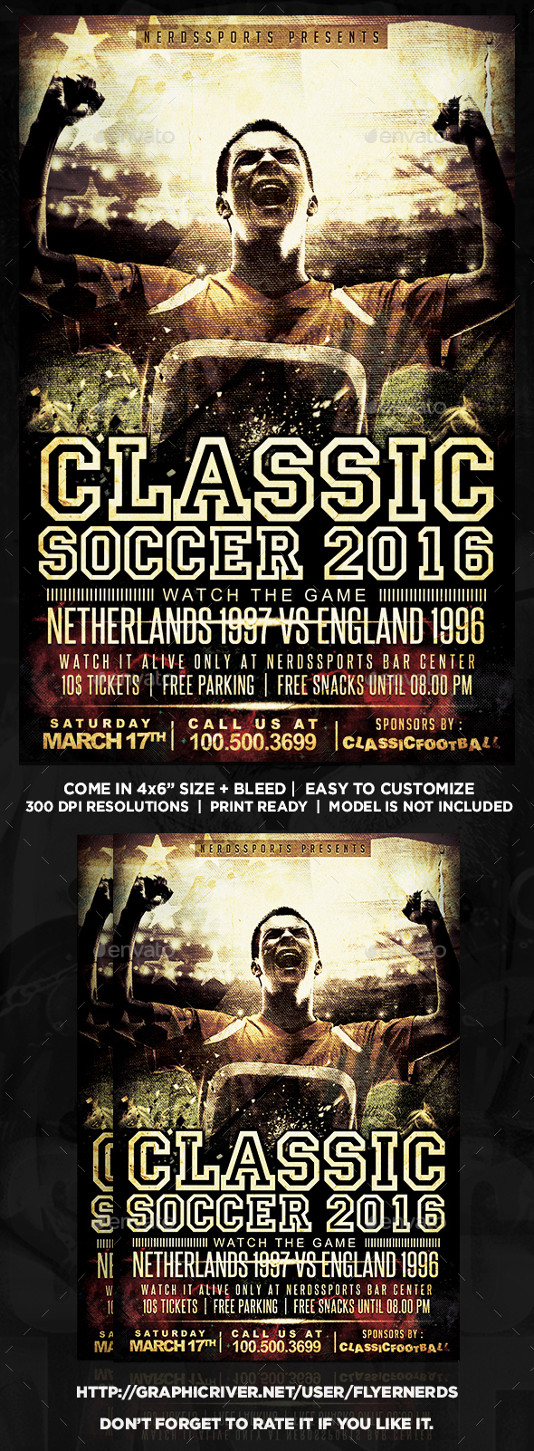 Classic Football Sports Flyer - Sports Events
