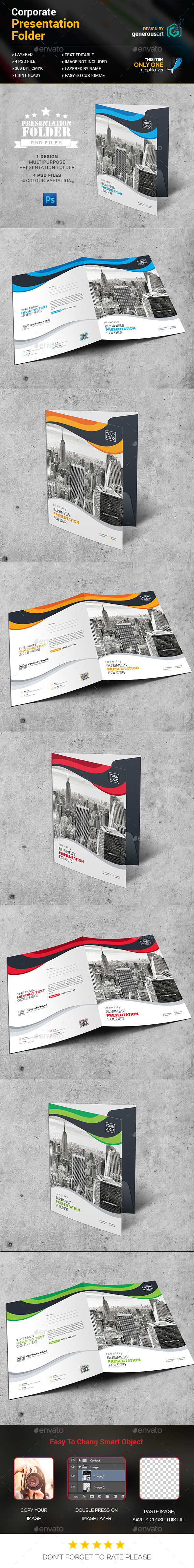 New Presentation Folder - Stationery Print Templates