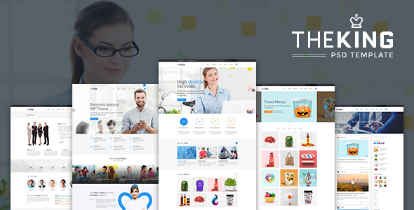 TheKing | Multipurpose Business Agency PSD Template