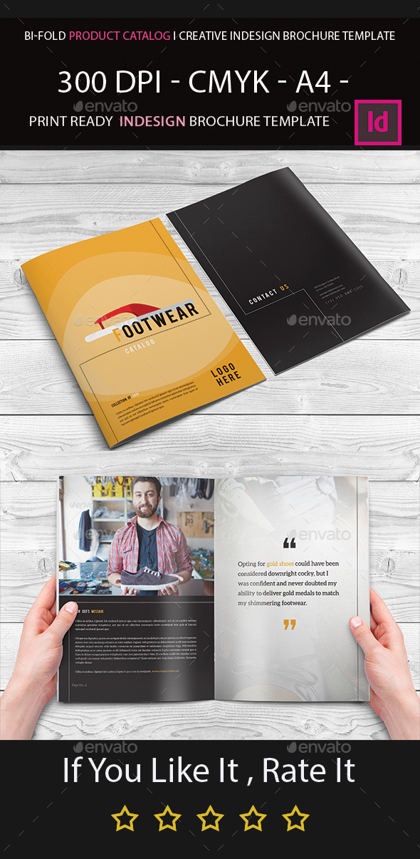 Bi fold product catalog i creative indesign brochure for Indesign bi fold brochure template