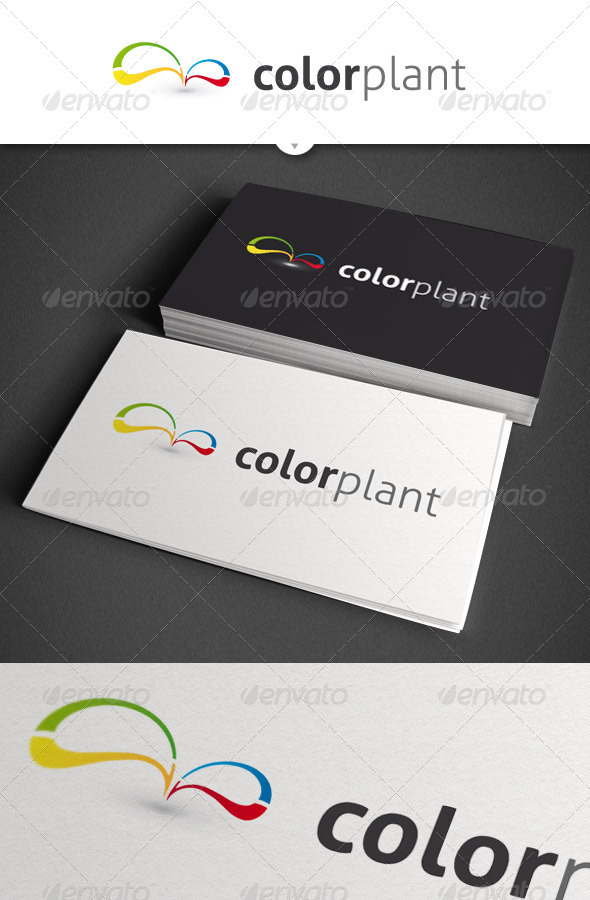Color Plant Abstract Logo - Vector Abstract