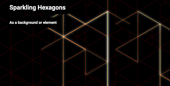 Sparkling Hexagons - CodeCanyon Item for Sale