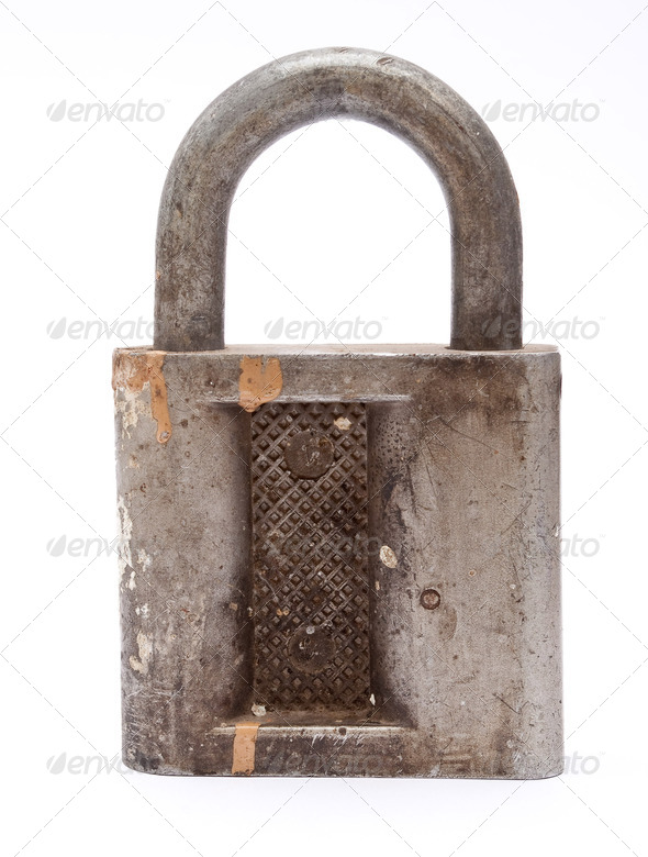 Old padlock - Stock Photo - Images