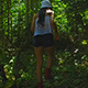Girl Walking In Forest - VideoHive Item for Sale