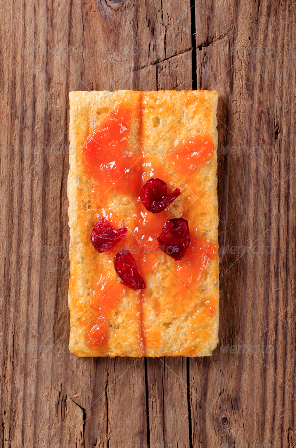 Crispbread and jam - Stock Photo - Images