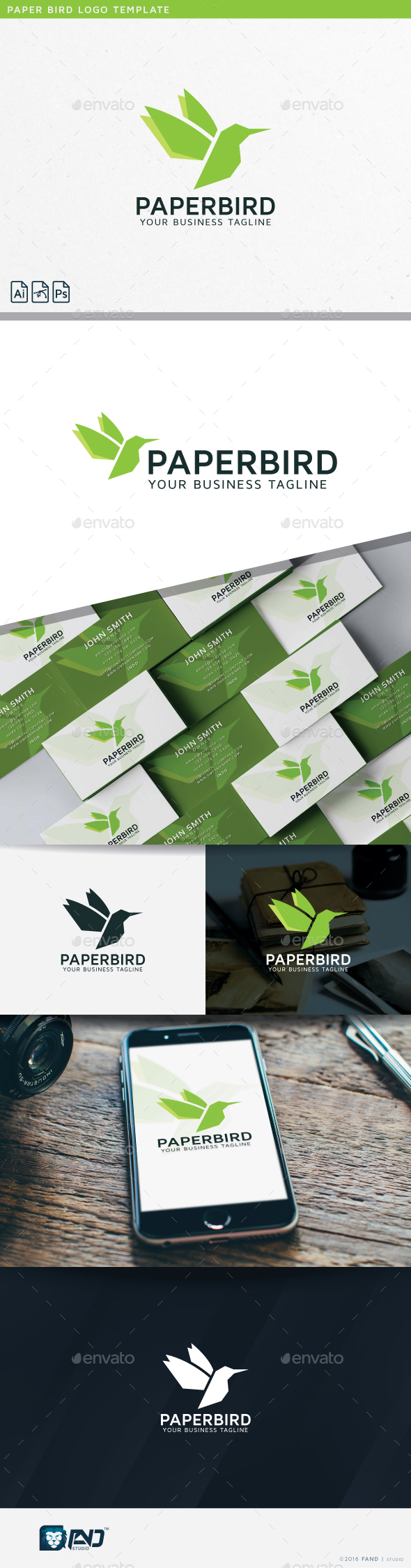 Paper Bird - Abstract Logo Templates