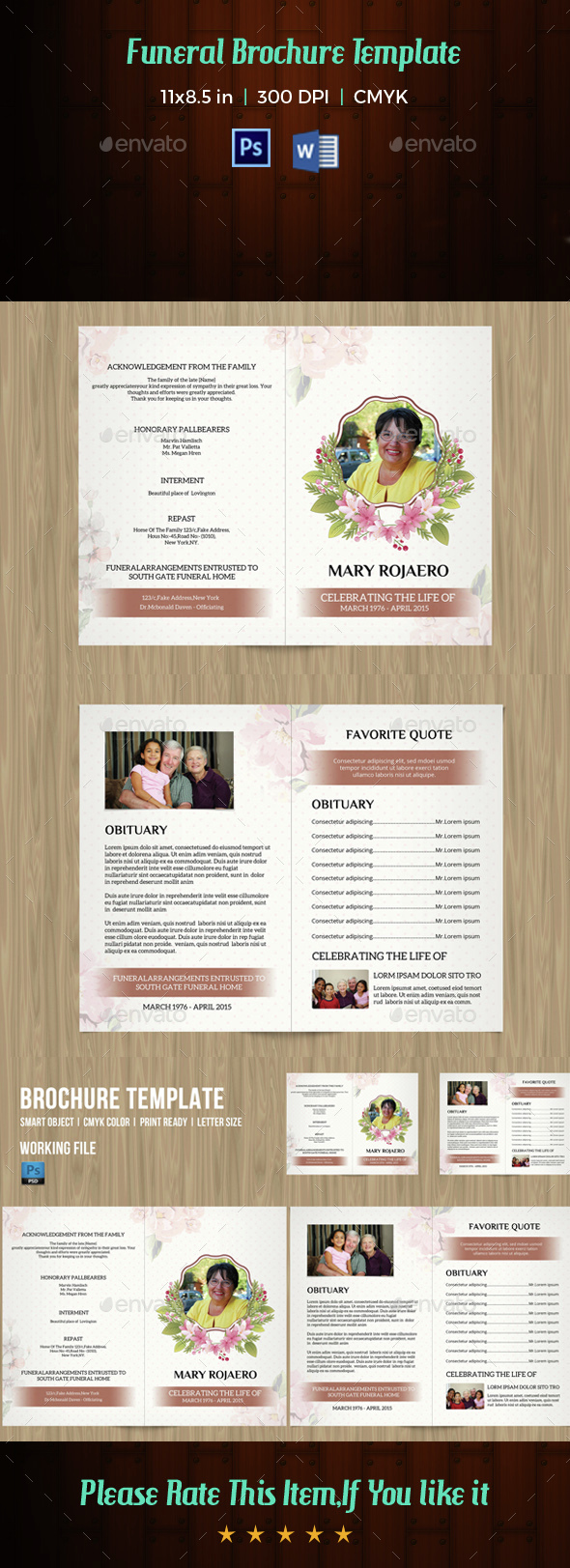 Funeral Program Template-V14 - Informational Brochures