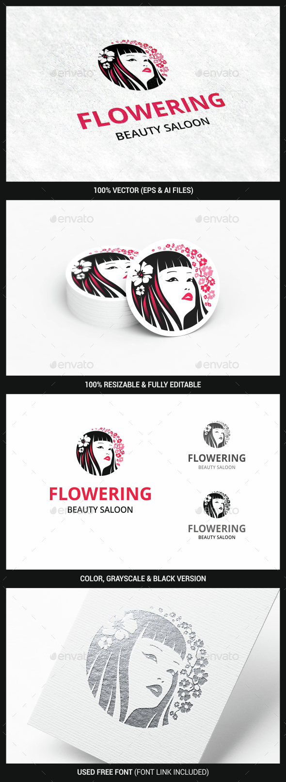 Girl - Humans Logo Templates