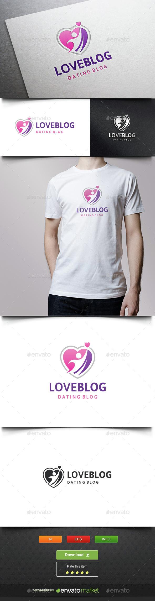 Dating Blog - Humans Logo Templates