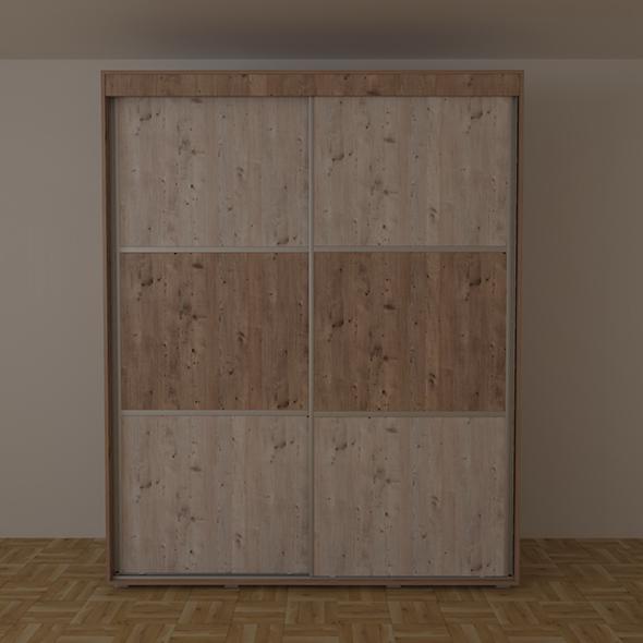 Wardrobe with sliding door - 3DOcean Item for Sale