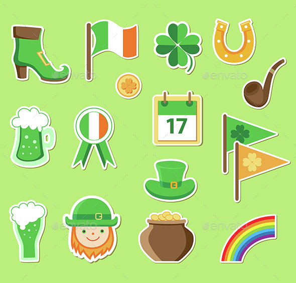 Icons for St. Patrick's Day - Miscellaneous Seasons/Holidays