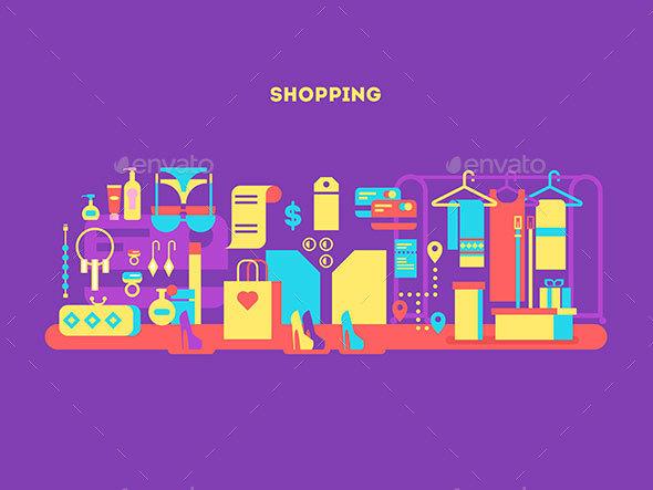 Shopping Design Flat Concept - Miscellaneous Conceptual
