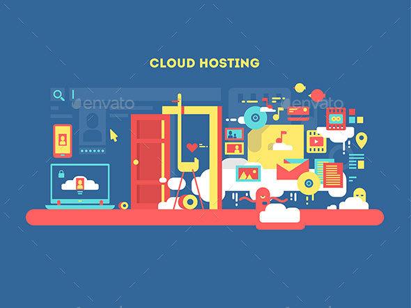 Cloud Hosting Design - Technology Conceptual