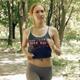 Girl Sportsmen Runs In The Park  - VideoHive Item for Sale