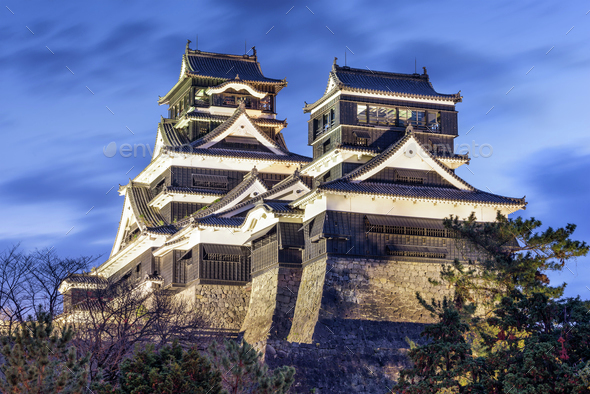 Kumamoto Castle Japan - Stock Photo - Images