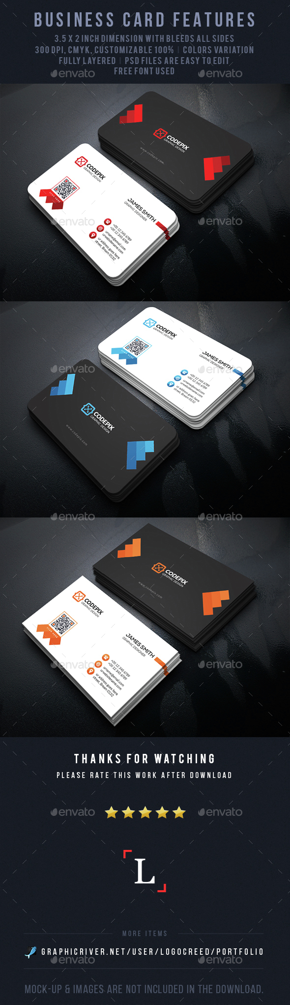 Graphic Business Card - Business Cards Print Templates