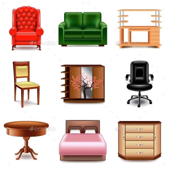 Furniture Icons Vector Set - Miscellaneous Vectors