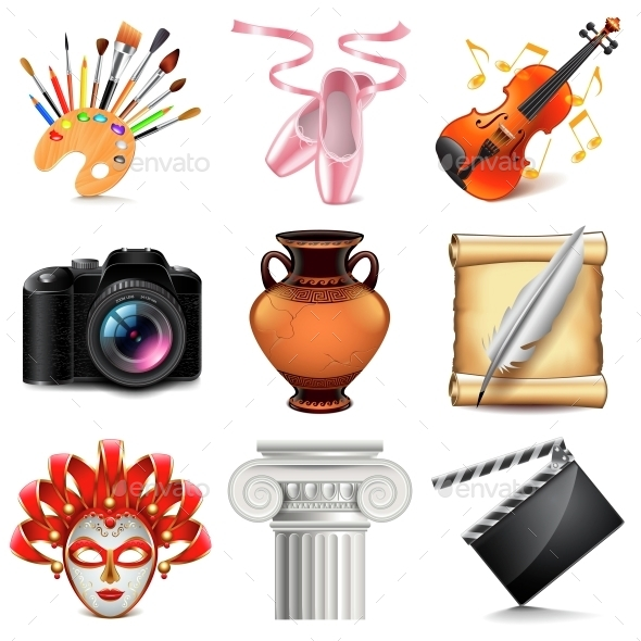 Art Icons Vector Set - Man-made Objects Objects