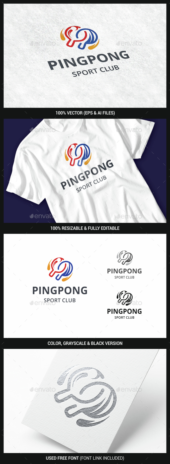 Ping Pong Logo - Objects Logo Templates
