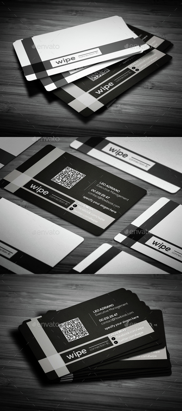 Black Clean Business Card - Creative Business Cards