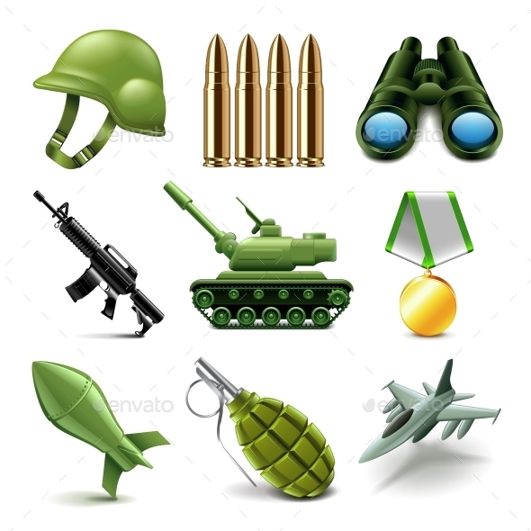 Army Icons Vector Set - Miscellaneous Vectors