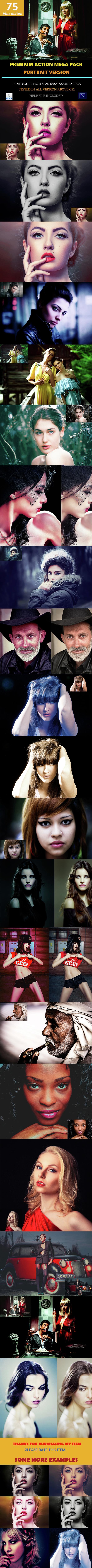Premium Portrait Mega Action Set - Photo Effects Actions