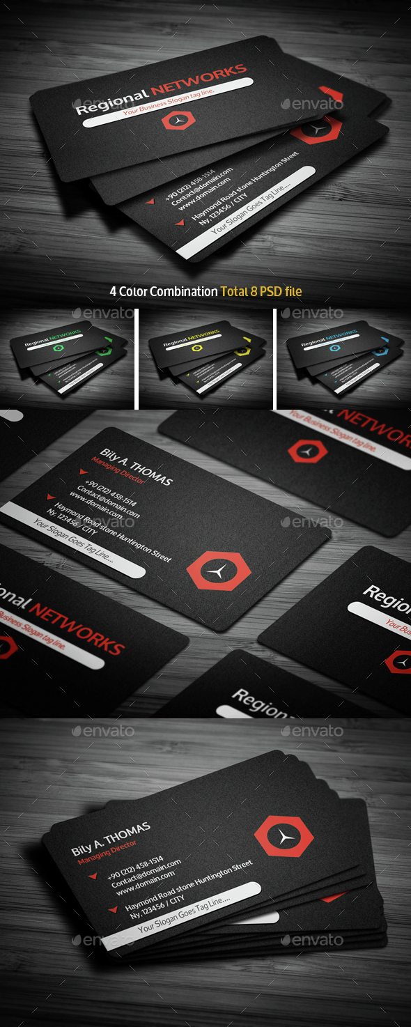 Black Corporate Business Card - Creative Business Cards