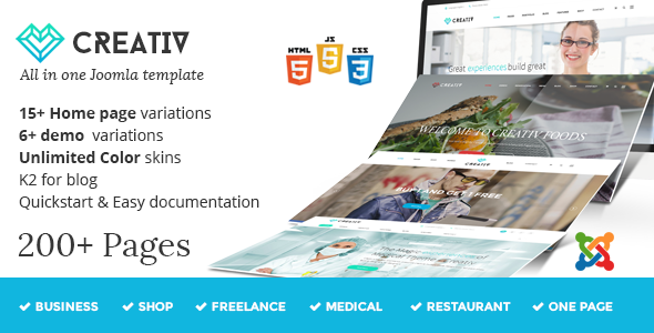 Creativ - Responsive Multi-Purpose Joomla Template