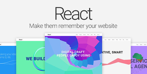 React — Material Design Multipurpose Template - Creative Site Templates