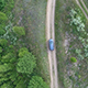 Car on a Forest Road - VideoHive Item for Sale