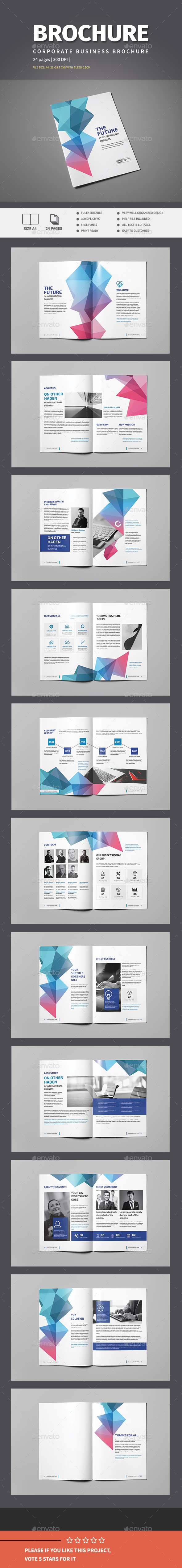Colorful Business Brochure Template - Corporate Brochures