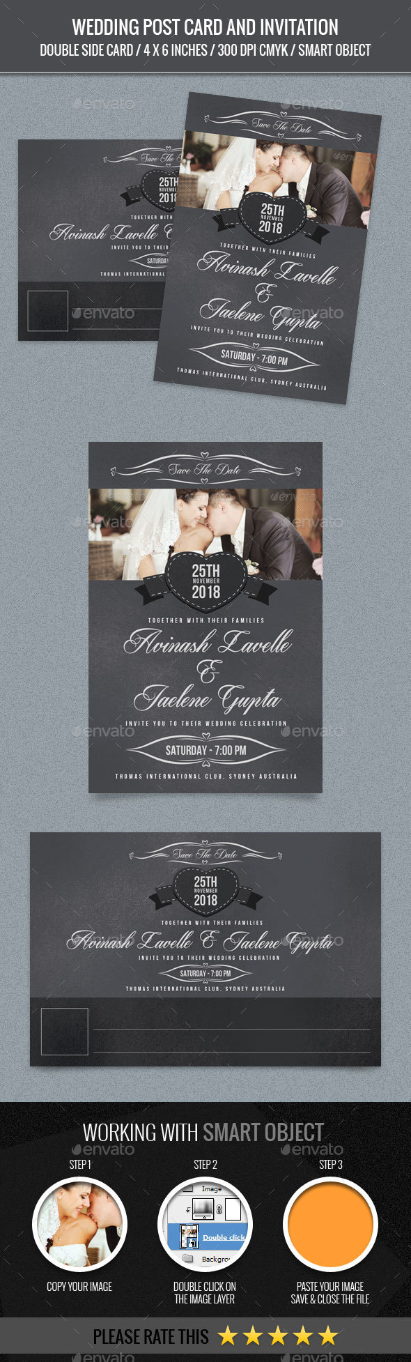 Wedding Post Card - Weddings Cards & Invites