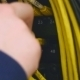 Hand Plug In Out Ethernet Cable - VideoHive Item for Sale