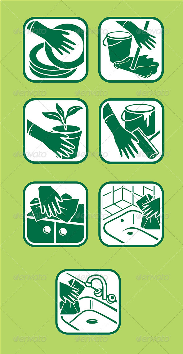 Domestic cleaning icon - Technology Conceptual
