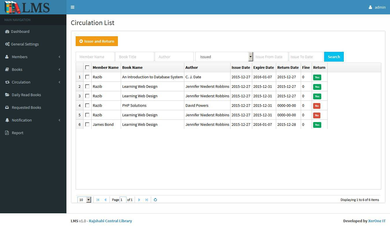 Library Management System Lms