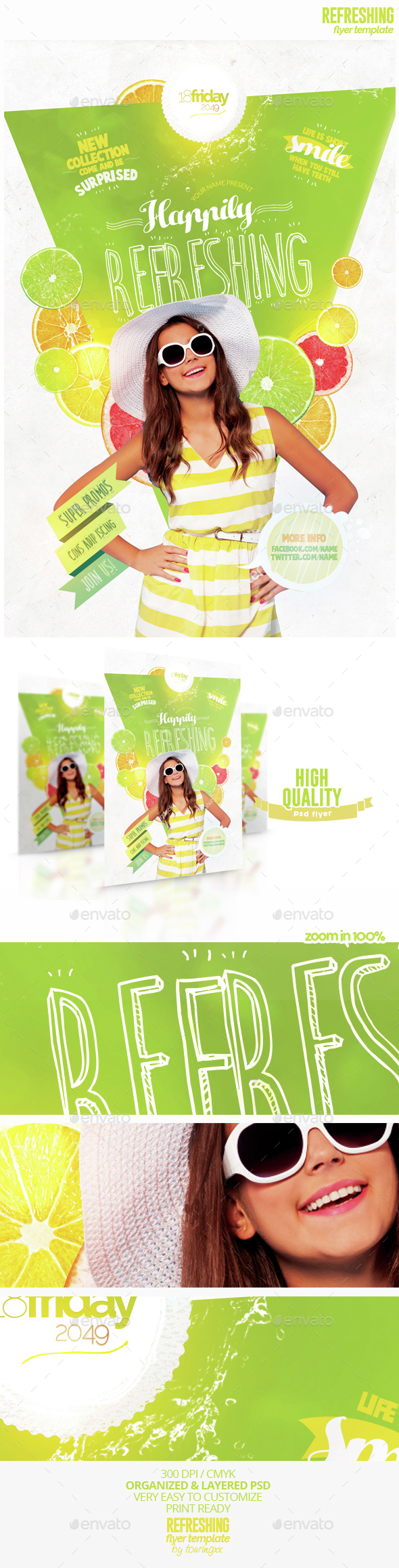 Refreshing Flyer Template - Flyers Print Templates