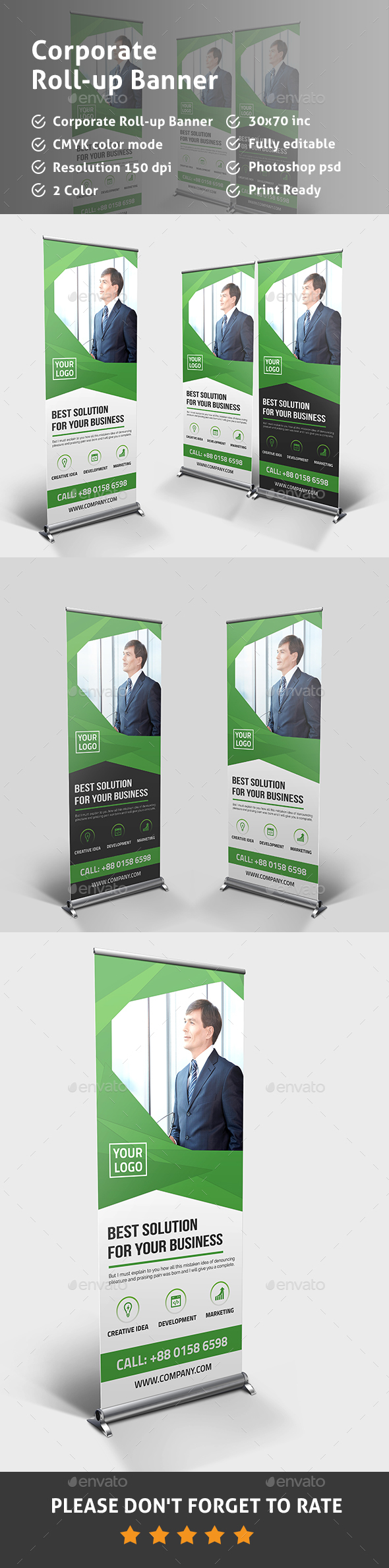 Corporate Multipurpose Banner Template  - Signage Print Templates