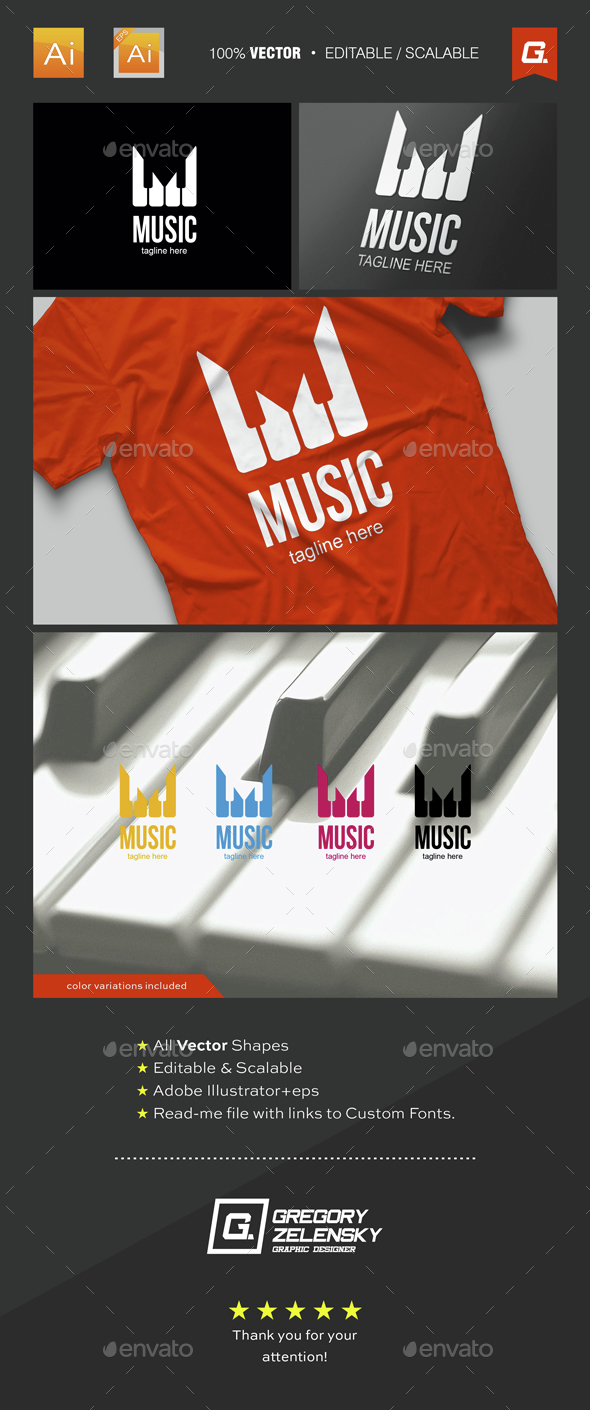 Music Logo Template - Objects Logo Templates