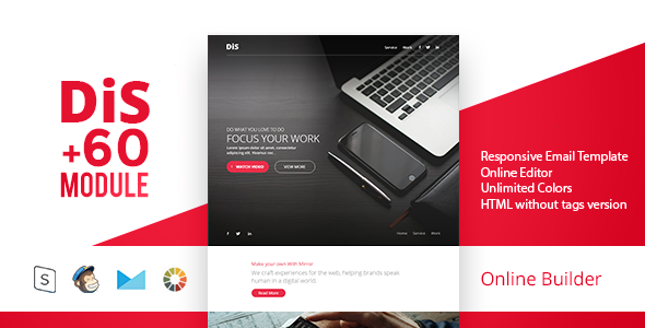 DiS – Modern Email Template + Online Access