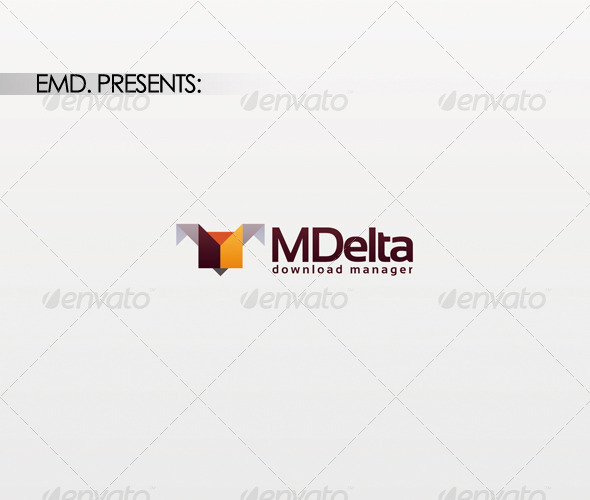 M Delta Logo - Vector Abstract