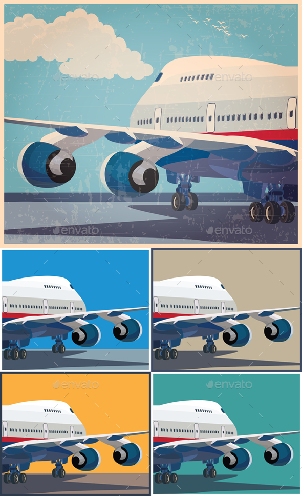 Civil Aircraft Set - Travel Conceptual