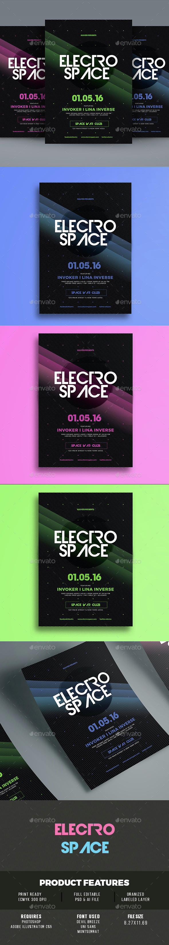 Electro Space Vol 02 - Events Flyers