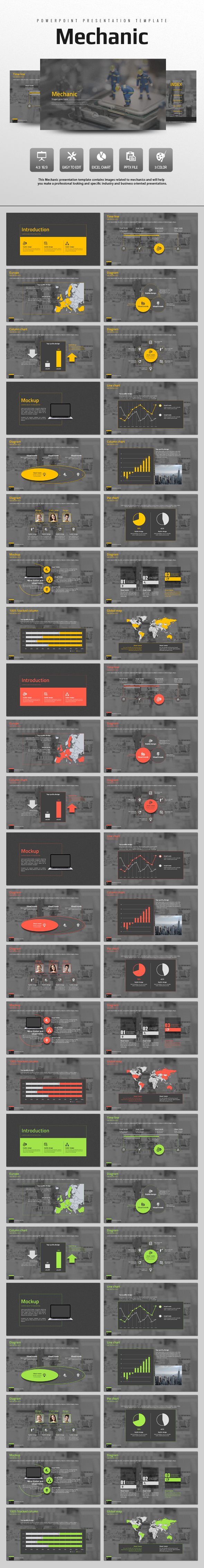 Mechanic - PowerPoint Templates Presentation Templates
