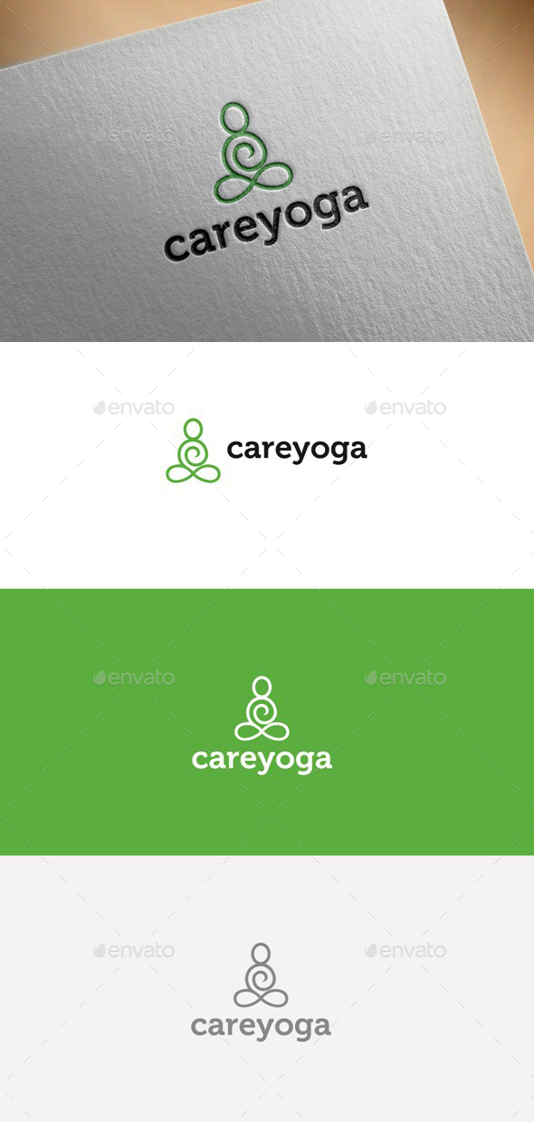 Care Yoga - Logo Templates