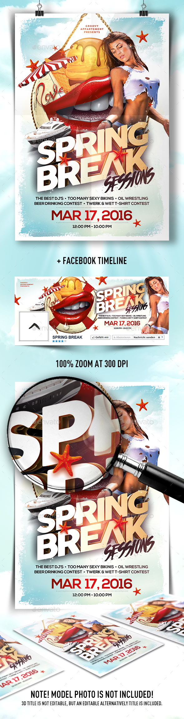 Spring Break Sessions Flyer - Clubs & Parties Events