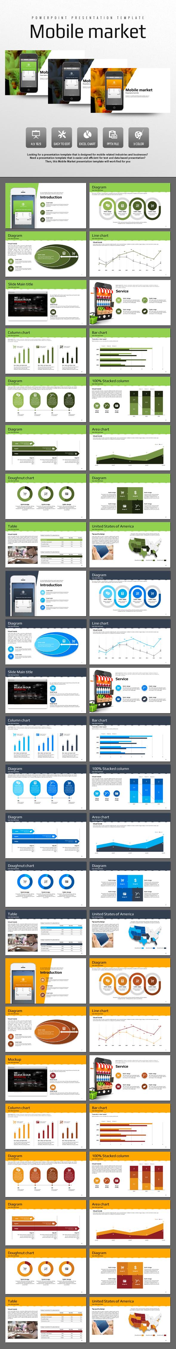 Mobile Market - PowerPoint Templates Presentation Templates