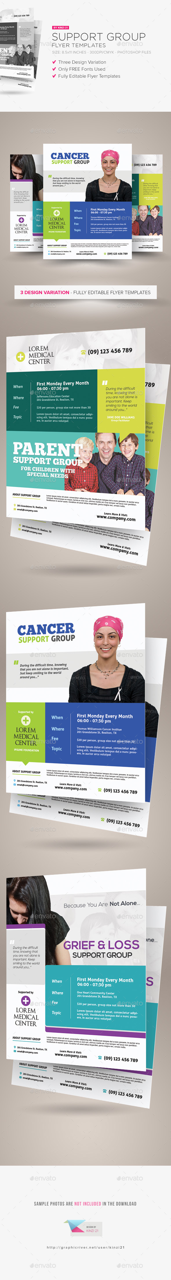 Support Group Flyer Templates - Corporate Flyers